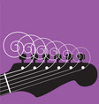 guitar strings vector image vector image