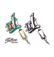 Tattoo Machines 1 vector image vector image