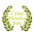 A Beautiful Olive Wreath for Cyber Monday Sale vector image vector image