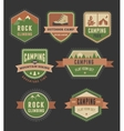 Hiking camp badges - set of icons and elements vector image