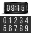 Clock table vector image