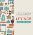 Cooking Tools And Utensil Background vector image