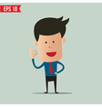 Business man showing a ok symbol - - EPS10 vector image