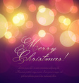 Christmas Greeting Card with lights vector image