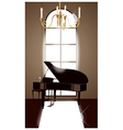 Grand Piano Room vector image