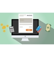 online invoices payment vector image