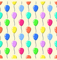 party balloons pattern seamless cartoon balloons vector image