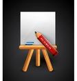 Pencil drawing conceptual icon vector image