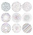 set of colorful deco mandalas vector image