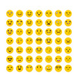 set of emoticons flat design big collection with vector image