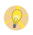 Shiny lamp icon vector image