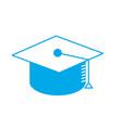 silhouette cap graduation to ceremony sucess vector image