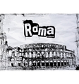 view of the Colosseum Amphitheater in Rome vector image