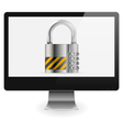 Safe Computer Concept vector image vector image
