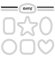 set of blank frames and brushes vector image