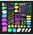 Set of hand drawn paint object for design use vector image