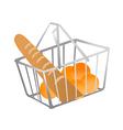 icon shopping basket vector image vector image