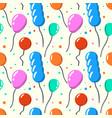 party baloon seamless pattern cartoon balloons vector image