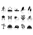 black park and garden icons set vector image vector image