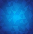 Abstract triangle with blue background vector image vector image