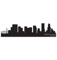 portland oregon skyline detailed silhouette vector image vector image