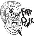 black and white fat punk vector image