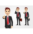 businessmen with briefcases vector image