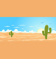 cartoon wide desert vector image