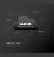 cloud storage - infographic report template vector image