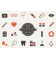 Flat Medical Icons Collection vector image