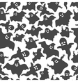 Funny ghost seamless pattern vector image