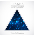 Galaxy into triangle vector image