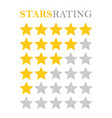golden star rating vector image