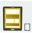 isolated icon tablet vector image