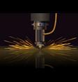 laser machine for metal vector image