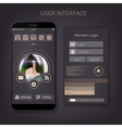 Mobile user ui kit form interface For web vector image
