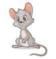 Pensive mouse vector image