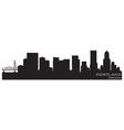 Portland oregon skyline detailed silhouette vector image
