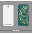 Phone Cover With Blue Flowers vector image