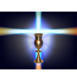 glowing cross vector image