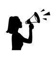 shouting into a megaphone vector image