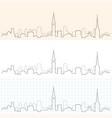 copenhagen hand drawn skyline vector image vector image