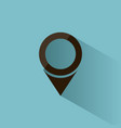 isolated location icon for maps on a blue vector image