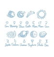 Astronomy Doodles Set vector image