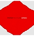 Frame of white lacerated papers on red background vector image