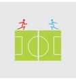 Soccer field - vector image
