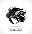 Exotic Fish Patterned Sea Logo Collection vector image