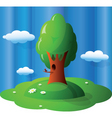 glossy landscape vector image vector image