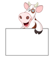 cow with sign vector image