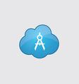 Blue cloud compasses icon vector image